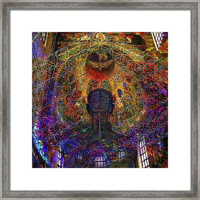 Solar Crown Chakra  Framed Print by Joseph Mosley