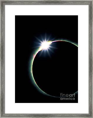Solar Eclipse Diamond Ring Effect 3 Framed Print by David Nunuk