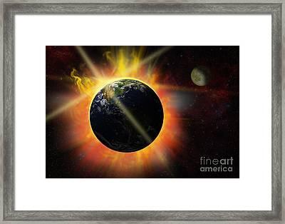 Solar Flare Framed Print by Michal Boubin