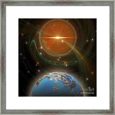 Solar Message Framed Print by Corey Ford