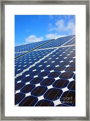 Solar Pannel Framed Print by Carlos Caetano