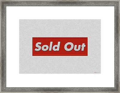 Sold Out Framed Print by Serge Averbukh