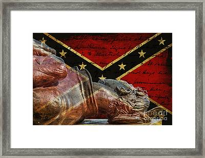 Soldier's Last Letter Home Framed Print by Randy Steele