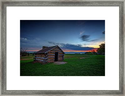 Soldier's Quarters At Valley Forge Framed Print by Rick Berk
