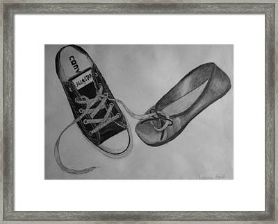Sole Mates Framed Print by Joanna Aud