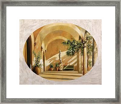 Sole Tra Gli Archi Framed Print by Guido Borelli