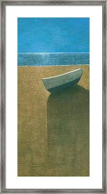 Solitary Boat Framed Print by Steve Mitchell