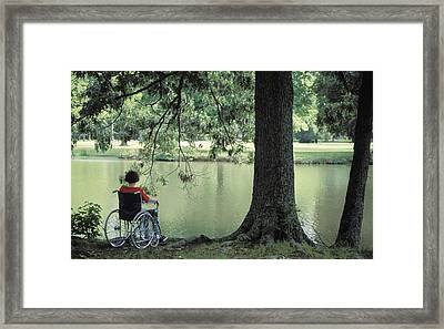 Solitude And The Lonely Heart Framed Print by Carl Purcell