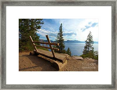 Solitude At Crater Lake Framed Print by Adam Jewell