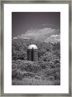 Solo Silo Framed Print by Guy Whiteley