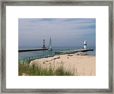 Summer Solstice  Pentwater Channel Framed Print by Jane Greiner