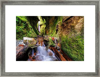 Sombio Beach Canyon  Framed Print by Heather K Jones
