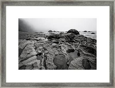 Sombrio Rocks Framed Print by Heather K Jones