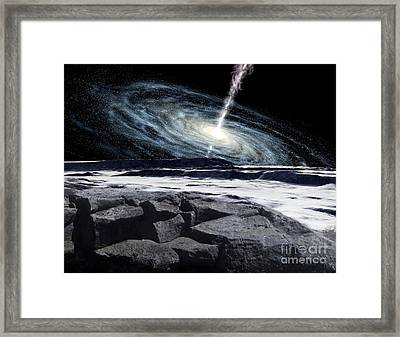 Some Galaxies Have Powerfully Active Framed Print by Ron Miller