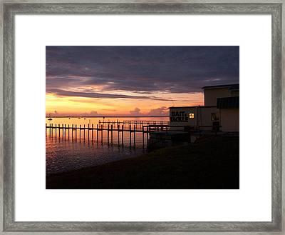 Some Golden Daybreak Framed Print by Joyce Kimble Smith