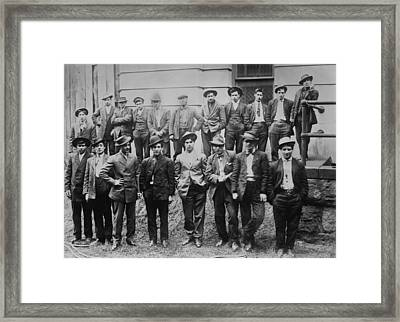 Some Of The 100 Italian And Slavic Coal Framed Print by Everett