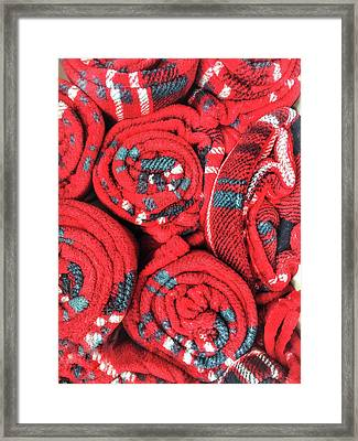 Some Red Blankets Framed Print by Tom Gowanlock