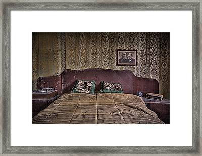 Somebody Is In Our Bedroom Taking Pictures Framed Print by Dirk Ercken