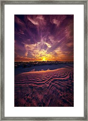 Someone Is Calling Framed Print by Phil Koch