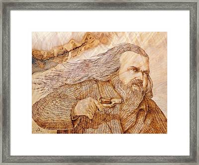 Someone To Not Mess With Framed Print by Jerrywayne Anderson