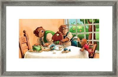 Someones Eaten My Porridge Framed Print by Andy Catling