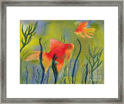 Something Fishy Going On Framed Print by Conni Schaftenaar