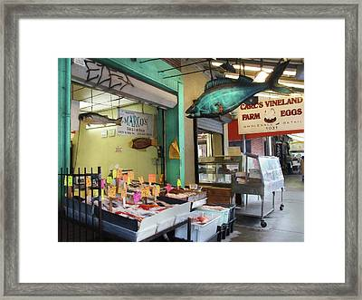 Something's Fishy Framed Print by Lori Deiter