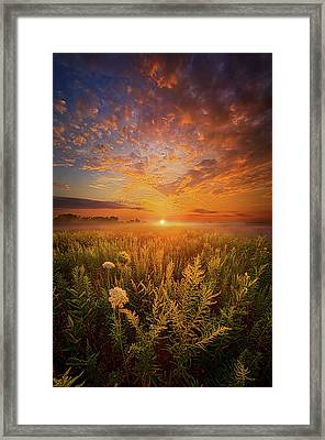 Sometimes Darkness Can Show You The Light Framed Print by Phil Koch