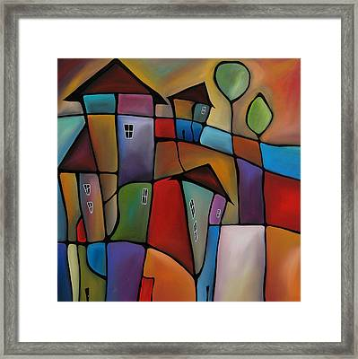 Somewhere Else - Abstract Pop Art By Fidostudio Framed Print by Tom Fedro - Fidostudio
