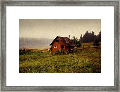 Somewhere In The Countryside. Russia Framed Print by Jenny Rainbow