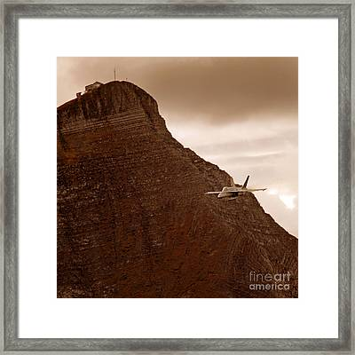 Somewhere In The Swiss Alps Framed Print by Angel  Tarantella