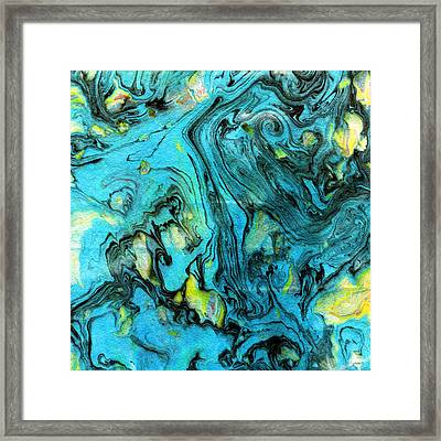 Somewhere New 6- Art By Linda Woods Framed Print by Linda Woods