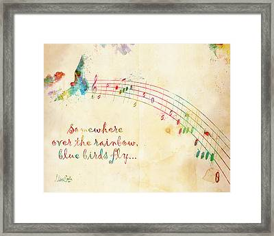 Somewhere Over The Rainbow Framed Print by Nikki Smith