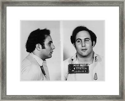 Son Of Sam David Berkowitz Mug Shot 1977 Horizontal  Framed Print by Tony Rubino