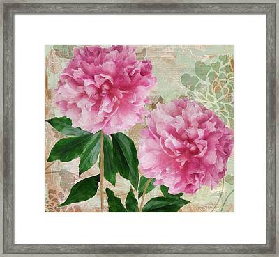 Sonata Pink Peony I Framed Print by Mindy Sommers