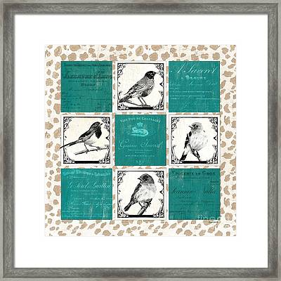 Songbird Cheetah Patch Framed Print by Debbie DeWitt
