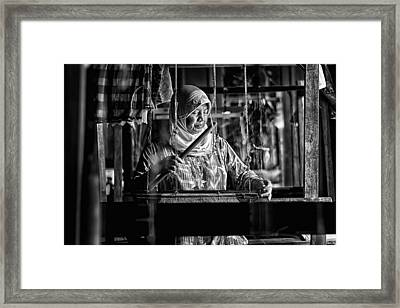 Songket Maker Framed Print by Erwin Astro