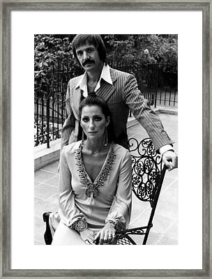 Sonny & Cher, Sonny Top, Cher Bottom Framed Print by Everett