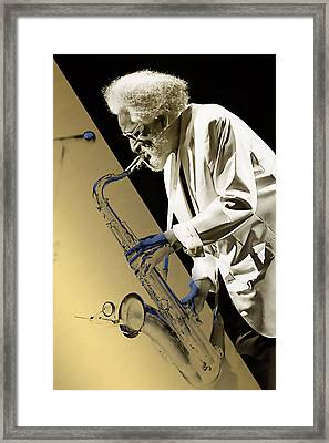 Sonny Rollins Collection Framed Print by Marvin Blaine