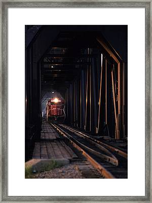 Soo Line Framed Print by Susan  Benson