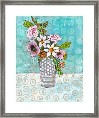 Sophia Daisy Flowers Framed Print by Blenda Studio