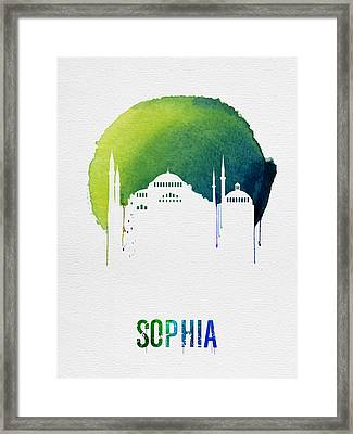 Sophia Landmark Red Framed Print by Naxart Studio