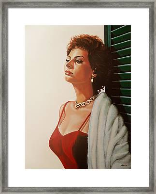Sophia Loren 2  Framed Print by Paul Meijering
