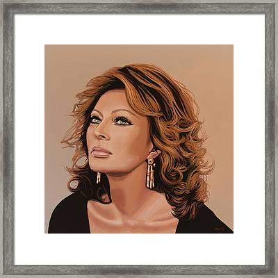 Sophia Loren Glamour Framed Print by Paul Meijering