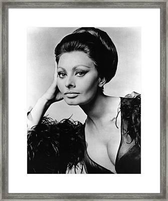 Sophia Loren, In Costume For Arabesque Framed Print by Everett