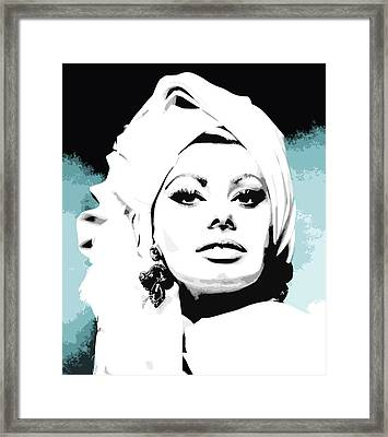 Sophia Loren Framed Print by Veronica Crockford