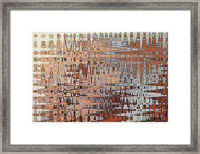 Sophisticated - Abstract Art Framed Print by Carol Groenen