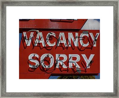 Sorry Framed Print by David Gianfredi