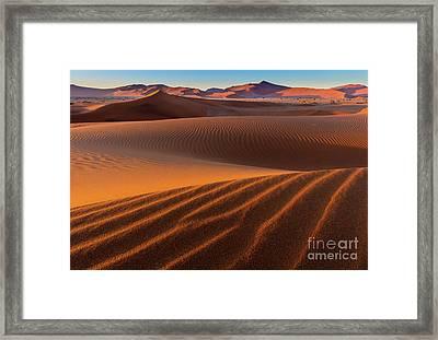 Sossusvlei Sand Dunes Framed Print by Inge Johnsson