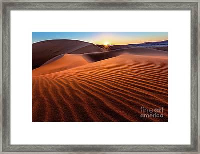 Sossusvlei Sunrise Framed Print by Inge Johnsson